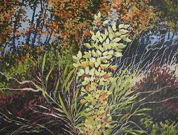"Autumn Bouquet, 2007, 36"" x 48"", acrylic on canvas"