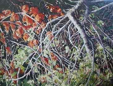 "Fall, 2007, 36"" x 48"", acrylic on canvas"