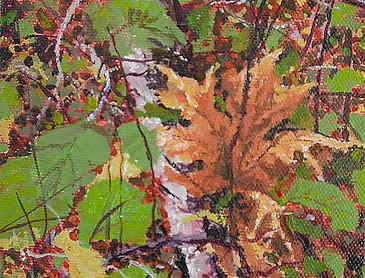 "Field Study #3, 2007, 5"" x 5"", acrylic on canvas, SOLD"