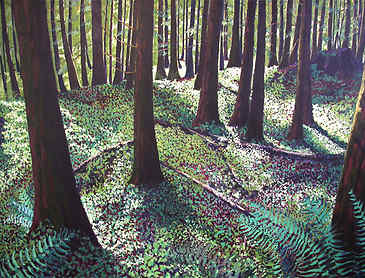 "Forest Carpet, 2007, 36"" x 48"", acrylic on canvas, SOLD"
