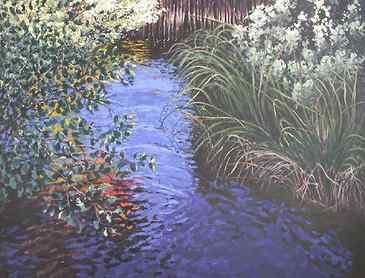 "Neskowin Spring, 2007, 36"" x 48"", acrylic on canvas, SOLD"