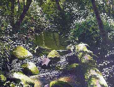 "Summer Shade, 2007, 24"" x 18"", acrylic on canvas, SOLD"