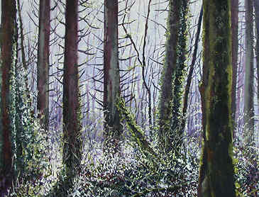 "Summer Woods, 2007, 18"" x 24"", acrylic on canvas"